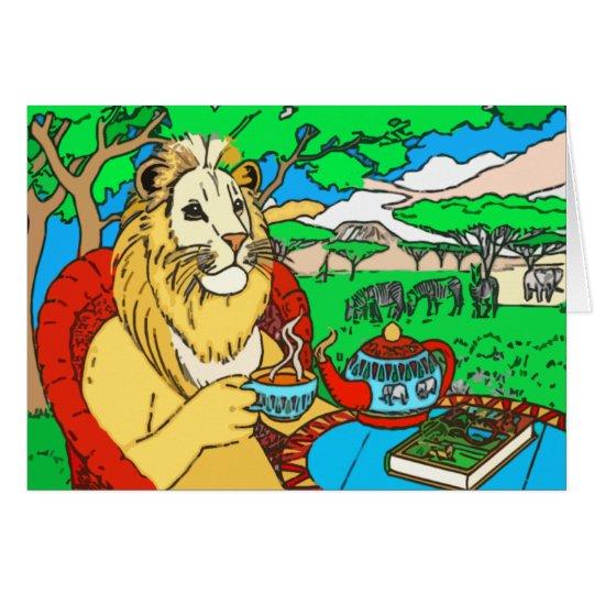 In der Dschungel-Gruß-Karte Grußkarte