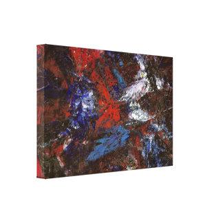 In der Dunkelheit abstrakt Gespannter Galerie Druck
