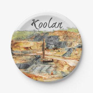 In der Grube - Koolan Pappteller