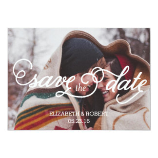 In der Liebe mit Skript Save the Date Wedding Karte