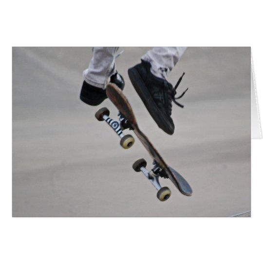 In der Luft Skateboard Karte