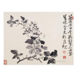In der Nachahmung von Xu Weis Blumen No.5 Postkarte