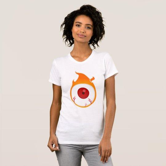 in flammen Auge T-Shirt
