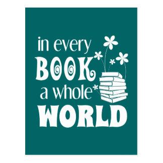 In jedem Buch eine ganze Weltpostkarte Postkarte