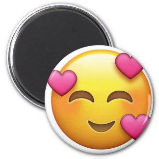 In Liebe emoji Runder Magnet 5,7 Cm