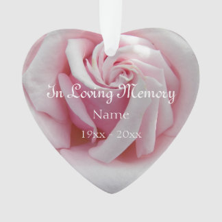 In liebevollem Gedächtnis-Rosa-Rosen-Acryl Ornament