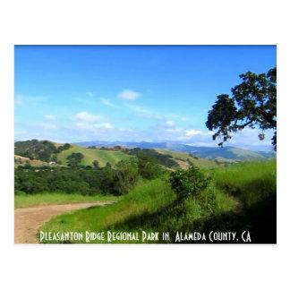 In Pleasanton wandern, CA 1 Postkarte