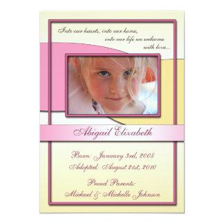 In unsere Herzen ~ Adoptions-Mitteilungen 12,7 X 17,8 Cm Einladungskarte