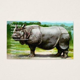 Inder Rhinocerous Visitenkarte