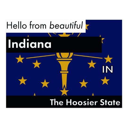 Indiana der Hoosier-Staat Postkarte