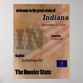 Indiana der Hoosier-Staats-Klassiker Poster