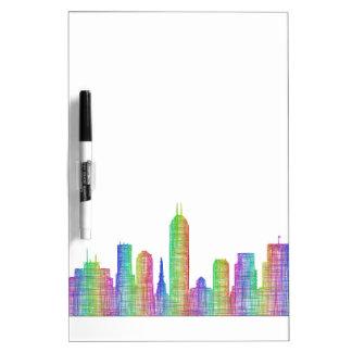 Indianapolis-Stadt-Skyline Trockenlöschtafel