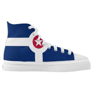 Indianapolis-Stadtflaggen-Amerika-Symbol USA Hoch-geschnittene Sneaker