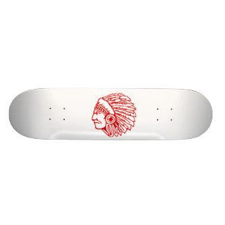 Indianer-roter Inder 19,1 Cm Old School Skateboard Deck