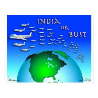 Indien oder Fehlschlag Postkarte