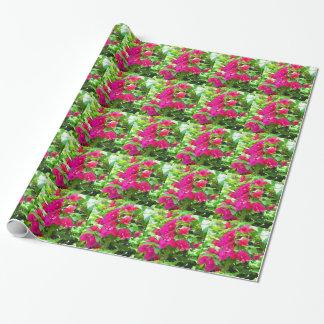 Indien-Reise-Blumen-Bouganvilla-Blumenemblem Geschenkpapier