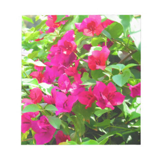 Indien-Reise-Blumen-Bouganvilla-Blumenemblem Notizblock