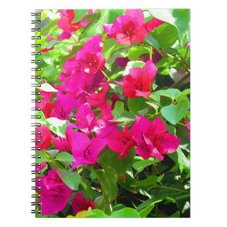 Indien-Reise-Blumen-Bouganvilla-Blumenemblem Spiral Notizblock