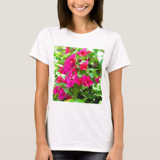 Indien-Reise-Blumen-Bouganvilla-Blumenemblem T-Shirt