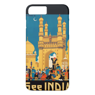 Indien-Reise-Plakattelefon-Hüllen iPhone 8 Plus/7 Plus Hülle