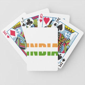 INDIEN-Text-Flagge Bicycle Spielkarten