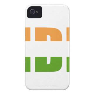 INDIEN-Text-Flagge iPhone 4 Hüllen