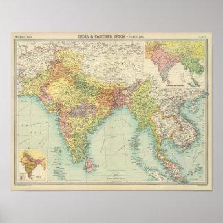 Indien u. weiteres Indien politisch Poster
