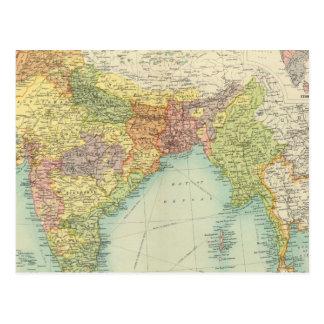 Indien u. weiteres Indien politisch Postkarte