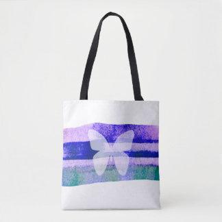 Indigo-Aquarell-Schmetterling Tasche