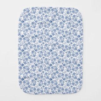 Indigo-Blau-ethnischer Blumendruck-Babyburp-Stoff Baby Spucktuch