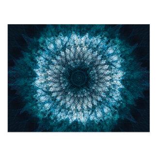 Indigo Blue Mandala Postkarte
