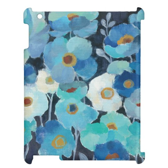 Indigo-Blumen iPad Cover