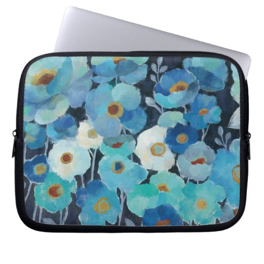 Indigo-Blumen Laptop Sleeve