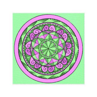 Indigo-Mandala Leinwanddruck