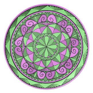 Indigo-Mandala Melaminteller