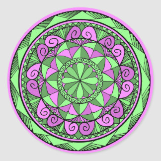 Indigo-Mandala Runder Aufkleber