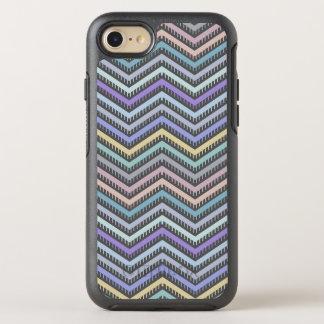 Indigo-Steigungs-Zickzack Muster-Telefon-Kasten OtterBox Symmetry iPhone 8/7 Hülle