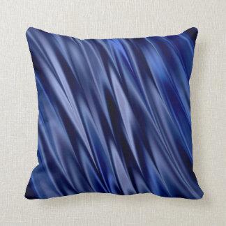 Indigo u. violette blaue Satinartstreifen Kissen