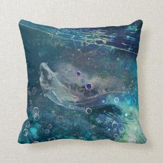 Indigo-Zauber-Unterwassermeerjungfrau Kissen