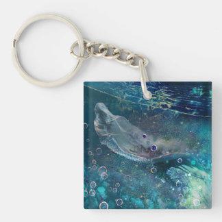 Indigo-Zauber-Unterwassermeerjungfrau Schlüsselanhänger