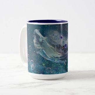 Indigo-Zauber-Unterwassermeerjungfrau Zweifarbige Tasse