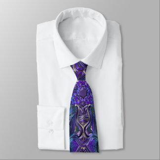 Indigolila psychedelischer Mandala Bedruckte Krawatten