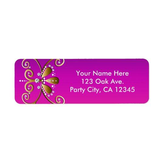 Indische Adressen-Etiketten Prinzessin-Birthday