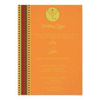 Indische Hindu Ganesh Hochzeit laden Garba Mehndi Karte