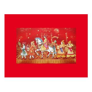 indische Hochzeitskarte Postkarte
