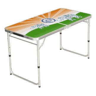 """Indische """"Landschafts"""" Flagge Beer Pong Tisch"""