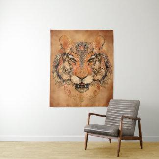 Indische Tiger-Tätowierungs-mittlere Wandteppich