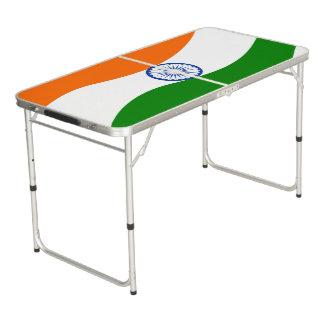 Indische wallend Flagge Beer Pong Tisch