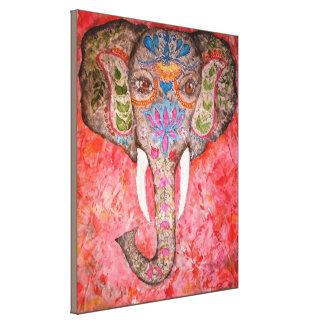 Indischer Elefant-Aquarell-Druck Canvas18x22 Leinwanddruck