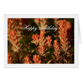 Indischer Malerpinsel; Alles Gute zum Geburtstag Karte